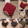 Square Leather Wallet Zipper Lattice Purse Card Holders Elegant Mini Women Bag