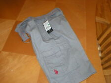 U.S. POLO ASSN boys shorts medium gray sz 16 NWT