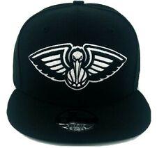New Era New Orleans Pelicans Snap-back 9Fifty Men's Basic Black Hat Cap NBA NWT