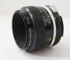 Nikon Micro-NIKKOR 55mm f3.5 MF Lens Manual Focus Macro Prime Lens