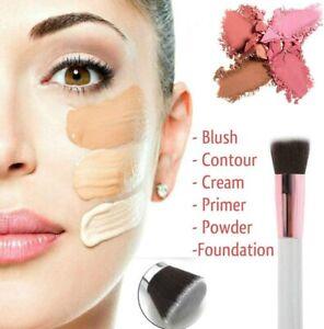 Flat Top Kabuki Foundation Brush Liquid Powder Blusher Buffing Make Up Brush