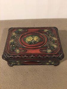 Vintage Plastic Jewellery Box Trinket Box Vine Jewellery Box From Framemaker LTd