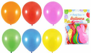 20 Assorted Colour Balloons - Latex Helium Air Party Decoration Mixed Birthday