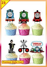22 x THOMAS THE TANK ENGINE Edible Cup Cake Toppers Boys Wafer STAND UP