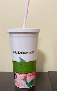 Kate Spade New York Bridesmaids Tumbler  20 oz with straw