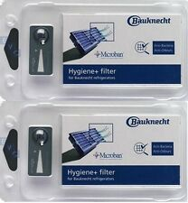 2 x Hygiene+ Filter Antibacterial Filter Microban Bauknecht 481248048173