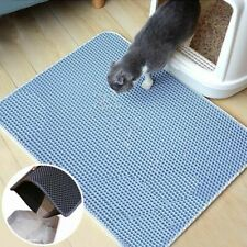 Waterproof Pet Cat Litter Mat Double-Layer Non-slip Cats Kitten Mat Foldable