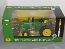 Precision Key #3 3020 John Deere 1/16 Scale Ertl Toy Tractor with 48 Loader NICE