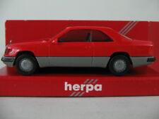 Herpa 2064 Mercedes-Benz 300 CE coupé (1987-89) in blaßrot/Grigio 1:87/h0 Nuovo/Scatola Originale