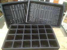10 x FULL SIZE SEED TRAYS + 10 x 24 CELL SEED TRAY INSERTS