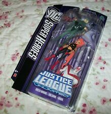 JUSTICE LEAGUE UNLIMITED VOLCANA GREEN ARROW HAWK 3 FIGURE PACK MIP HARD TO FIND