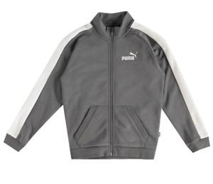 Puma Clean Fleece Tracksuit Jacket Mens Grey/White Size XL *REF172