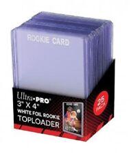 (25) Ultra Pro White Foil Rookie Card Topload Card Holder Toploaders Toploads