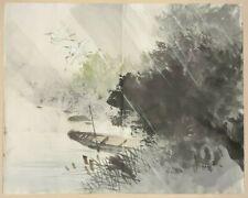 More details for ' white egret / heron ' : an original vintage japanese brush painting