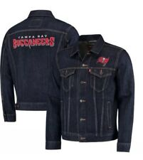 Levi's Tampa Bay Buccaneers NFL Sports Denim Trucker Jacket Blue Men's SZ XL