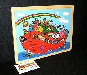 20 LARGE piece Noah's Ark plywood jigsaw for 2 year old's
