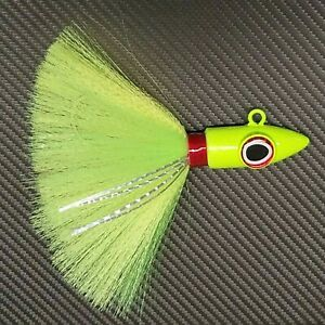 """Spire"" Point Yellowtail Cobia Striper Rockfish Grouper Nylon Lure Mustad - Char"