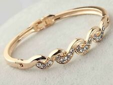 Kings & Lions 18k Rose Gold Plated Austrian Crystal Bracelets for Women & Girls