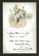 More details for 1929 - boy scout christmas card - baden powell - indian elephant