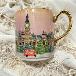NWT Anthropologie Christmas Time in the City LONDON Mug