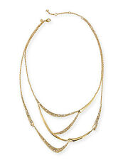 Alexis Bittar Gold Miss Havisham Jagged Crystal Draped Bib Necklace $320