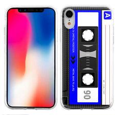 For Apple iPhone XR TPU Phone Case - Cassette Blue