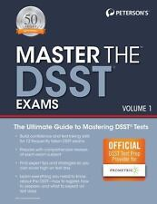 PETERSON'S MASTER THE DSST EXAMS - PROMTERIC (COR) - NEW PAPERBACK BOOK
