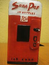 Vintage Ceramic Soda Pop Vending Machine Piggy Bank Gift