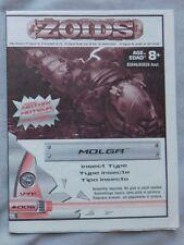 ZOIDS 006 MOLGA ACTION FIGURE MODEL KIT INSTRUCTION BOOKLET