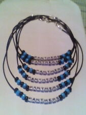 PANTHERS SUPER BOWL PARTY NECKLACES AND BRACELETS ** EVERY FAN SHOULD HAVE ONE!!