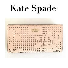 KATE SPADE Cameron Street Perforated Stacy Wallet Dolce BLUSH PINK pwru5728 NEW