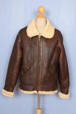 Vtg Mens B-3 Sheepskin Winter Leather Flight Jacket Medium