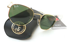 New RAY-BAN RB3548 green/gold sunglasses made in ITALY + case