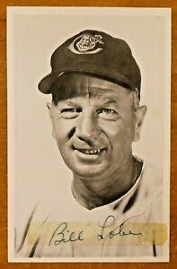 Rare Bill Lobe Signed Original 1953 Cleveland Indians Picture Postcard Dec. 1969