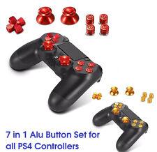 PS4 Controller Aluminium Buttons Bullet Thumbstick & Dpad Modding Set