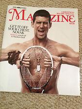 NOVAK DJOKOVIC NEW HOT SHIRTLESS PHOTO UK COVER TIMES MAGAZINE NOVEMBER 2014