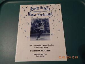 DORTHY HAMILL'S WINTER WONDERLAND FIGURE SKATING NOV 23-24 1990 VINTAGE PROGRAM