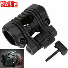 Tactical Flashlight Holder Clip Mount Rail Clamp Accessories For Fast Helmet Us