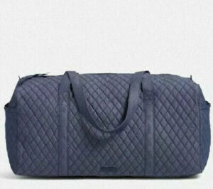 Vera Bradley **MIDNIGHT NAVY** Denim Large Travel Duffel Bag  NWT