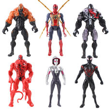 6Pcs Marvel Spider Man Black Red Venom Gwen 17cm Figure Model Statue Collection