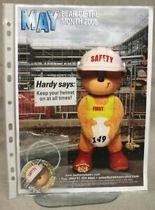"""BAD TASTE BEARS OFFICIAL POSTER AND BADGE FOR MAY 2006 - """"HARDY"""" - NO 149."""