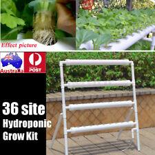 36 Plant Sites Garden Hydroponic Grow Kit Vegetable Water Basket Pump System 1
