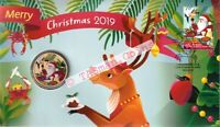 PNC Australia/Christmas Island 2019 Merry Christmas Perth Mint Tuvalu $1 Coin