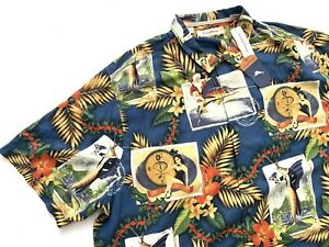 Tommy Bahama Mens Tommy Holidays Camp Silk Short Sleeve Shirt 2XB NWT $150
