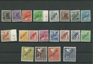 """""""GERMANIA BERLINO 1948"""" SOPRASTAMPATI IN NERO SERIE COMPLETA NUOVA** M.N.H."""