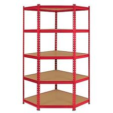Corner Racking Garage Shelving 90cm Storage Units Heavy Duty Metal Shelves MDF