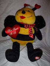 "Dan Dee Valentine Singing Bumble Bee ""How Sweet It Is"" 18"" Plush Stuffed Animal"