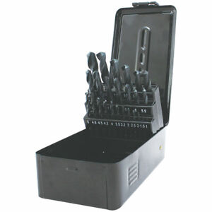 Straight Shank HSS Drill Bit Set 25 Pieces