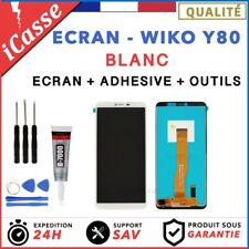 Ecran LCD + Vitre Tactile pour Wiko Y80 Blanc + OUTILS + COLLE
