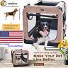 VEEHOO Folding Soft Dog Crate Pet Kennel 3-Door Playpen Portable Sided Dog Crate